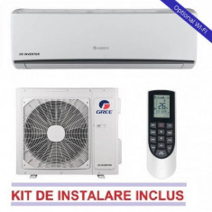 Aparat aer conditionat Gree LOMO GWH09QB-K3DNA1C 9000 BTU A++/A+ Alb WI-FI Optional + Kit Instalare Inverter, A++, Standard