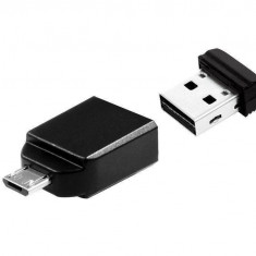 Memorie USB Verbatim Store n Stay Nano USB 2.0 Drive 8GB plus OTG Adapter, 8 GB