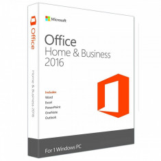 Microsoft Office Home and Business 2016 Win Romanian EuroZone Medialess - Solutii business
