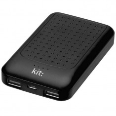 Acumulator extern Kit Essential 6000 mAh black - Baterie externa