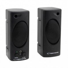 Sistem audio 2.0 Esperanza Tempo EP109 2W Black - Boxe PC