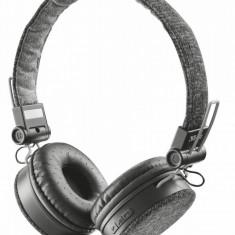 Casti Trust Fyber Bluetooth Grey, Casti Over Ear