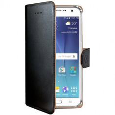 Husa Flip Cover Celly WALLY510 Agenda Negru pentru Samsung Galaxy J5 2015