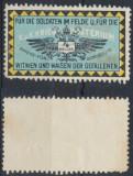 Austro-Ungaria timbru rar de ajutor din Primul Razboi pt vaduve orfani raniti, Nestampilat