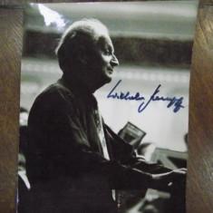 Wilhelm Kempff, fotografie originala cu semnatura olografa