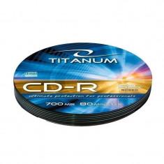 Mediu optic Esperanza CD-R TITANUM 700MB 52x Silver Soft Pack 10 bucati - CD Blank
