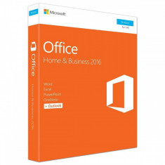 Microsoft Office Home and Business 2016 ENG, 32-bit/x64, 1 PC, Medialess - FPP - Aplicatie PC