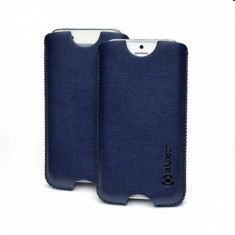Husa protectie Celly Crisxl02 albastra pentru Apple iPhone 5 - Husa Telefon Celly, iPhone 5/5S/SE, Piele Ecologica, Toc