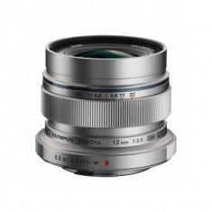 Obiectiv Olympus M.Zuiko Digital ED 12mm f/2.0 Silver montura Micro Four Thirds - Obiectiv mirrorless