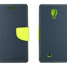 Husa Flip Cover Goospery YFSAMGS4AL My-Fancy albastru / lime pentru Samsung Galaxy S4 I9500