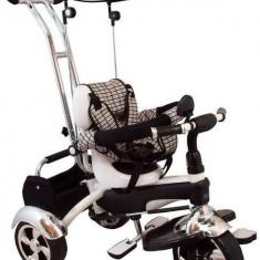 Tricicleta multifunctionala Happy Days - Alb - Tricicleta copii Baby Mix