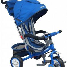 Tricicleta multifunctionala Sunny Steps Blue - Tricicleta copii Baby Mix