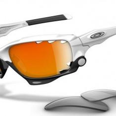 Oakley Jawbone Ochelari de soare profesionali 3 lentile carcasa originali - Ochelari de soare Oakley, Barbati, Ovali, Plastic, Protectie UV 100%, Polarizate
