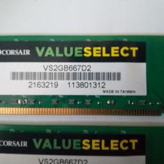 KIT Memorie RAM Corsair DDR2 2 x 2GB VS2GB667D2