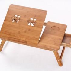 Masa Racire Laptop Multifunctionala E-Table Din Lemn De Bambus - Masa Laptop