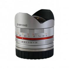 Obiectiv Samyang 8mm f2.8 Fisheye II Silver montura Sony E - Obiectiv DSLR