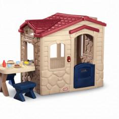 Casuta picnic cu terasa - Maro - Casuta copii Little Tikes