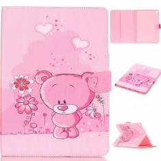 Husa protectie imprimata cu URSULETI pentru iPad Pro 9.7 inch, roz