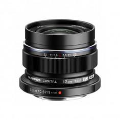 Obiectiv Olympus M.Zuiko Digital ED 12mm f/2.0 negru
