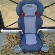 Graco Junior Maxi / Gri / scaun auto 15 - 36 kg - Scaun auto copii Graco, 2-3 (15-36 kg), In sensul directiei de mers
