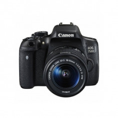Aparat foto DSLR Canon EOS 750D 24.2 Mpx Kit EF-S 18-55mm f/3.5-5.6 IS STM, Kit (cu obiectiv), Peste 16 Mpx, Full HD