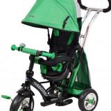 Tricicleta cu sezut reversibil Sunrise Turbo Trike Green - Tricicleta copii Baby Mix, Verde