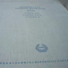 DICTIONARUL LIMBII ROMANE { TOMUL 7, PARTEA A 2-A, litera O } / 1969