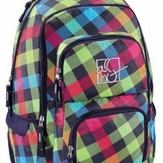 Rucsac All Out Louth Rainbow Check 17 inch - Rucsac Barbati