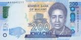 Bancnota Malawi 200 Kwacha 2016 - PNew UNC (nou: simbol pentru nevazatori)