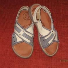 Sandale baieti, Melania, piele, marimea 33 - Sandale copii Melania, Culoare: Din imagine, Piele naturala