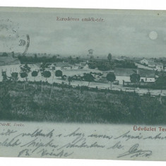 3764 - Litho, Bihor, TENKE - old postcard - used - 1901 - Carte Postala Crisana pana la 1904, Circulata, Printata