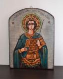 Icoana pictata pe lemn- Sfantului Mare Mucenic Dimitrie, Izvoratorul de mir #426