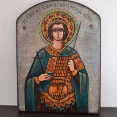 Icoana pictata pe lemn- Sfantului Mare Mucenic Dimitrie, Izvoratorul de mir #426 - Icoana pe lemn