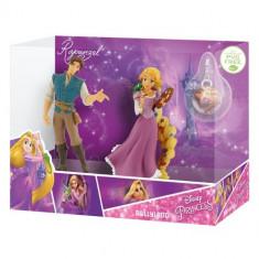 Set Figurine Rapunzel si Flynn Rider cu Medalion - Figurina Povesti Bullyland