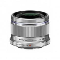 Obiectiv Olympus M.ZUIKO DIGITAL 25mm f/1.8 Silver montura Micro Four Thirds - Obiectiv mirrorless