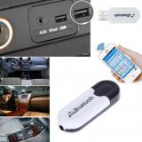 Receptor USB Bluetooth, AUX receiver 2 in 1, car kit - HandsFree Car Kit