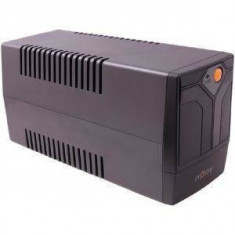 UPS nJoy Septu 600 Line Interactive 600VA AVR Black Gray Case + Orange Power Button