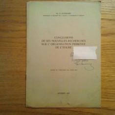 CONCLUSIONS DE SES NOUVELLES RECHERCHES SUR L`ORANISATION PRIMITIVE DE L`EGLISE - Carti bisericesti