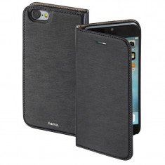Husa Flip Cover Hama Slim Booklet Grey pentru Apple iPhone 7 - Husa Telefon Hama, iPhone 7/8, Vinyl, Cu clapeta