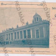 3752 - Litho, CRAIOVA, School Obedeanu - old postcard - used - 1901 - Carte Postala Oltenia pana la 1904, Circulata, Printata