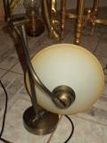 Lampadar,veioza pentru birou din alama cu picior reglabil