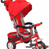 Tricicleta multifunctionala Sunny Steps Red - Tricicleta copii Baby Mix, Rosu