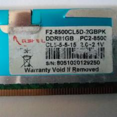 Memorie ram G-Skill ddr2 1Gb F2-8500 1066 MHZ