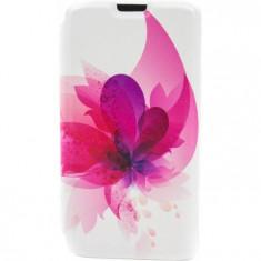 Husa Flip Cover Tellur Folio pentru telefon Samsung Galaxy S5 Pink Flower - Husa Telefon