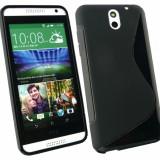 Husa Silicon TPU S-line HTC DESIRE 610 bonus FOLIE PROTECTIE - Husa Telefon HTC, Negru, Gel TPU