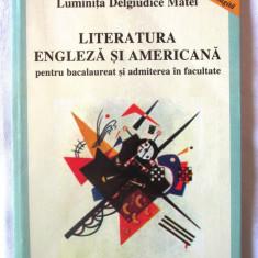 LITERATURA ENGLEZA SI AMERICANA PENTRU BACALAUREAT SI ADMITEREA IN FACULTATE - Carte in engleza