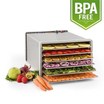 Klarstein uscator de fructe sacadat Pro 6 Alimente dehydrator dehydrator 630W 6 etaje din oțel inoxidabil foto