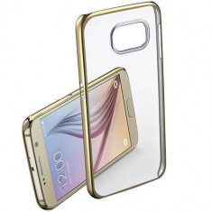 Husa Protectie Spate Cellularline CLEARCRYGALS6H Crystal Rigid Gold pentru Samsung Galaxy S6 - Husa Telefon