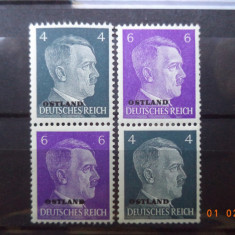1941  Germania ( Reich ) Mi  S 1** + S 3**   Cu guma si fara sarniera (Ostland)