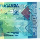 UGANDA 2000 shillings 2010 UNC P-50a